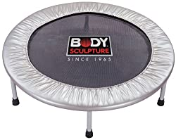 """36"""" Aerobic Rebounder Integral foam edge protection for safety Strong, lightweight and very stable base for low impact exercise Ships in Certified Frustration-Free Packaging Each of the 6 feet are rubber mounted to provide stability and protect your ..."""