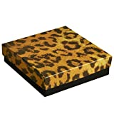 Leopard Print Cotton Filled Jewelry Gift/Packaging/Bead Making Supplies Boxes ~ Pack of 100