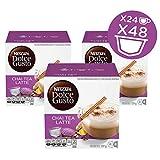 NESCAFÉ Dolce Gusto Coffee Capsules  Chai Tea Latte 48 Single Serve Pods, (Makes 24 Specialty Cups)...