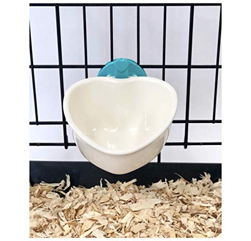 Choco Nose H607 Small Dog Cat Rabbit Food Bowl. Pet Wire Cage Removable Feeder Cute Mini Heart Shape...