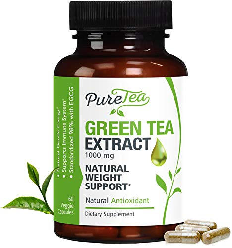 top rated 98% green tea extract, 1000mg (GMO and gluten-free) with EGCG weight loss and … maximum effect 2020