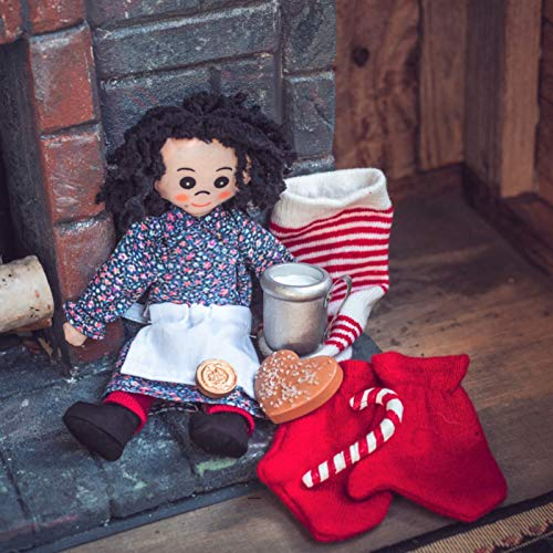 Little House On The Prairie 8 Pc Christmas Accessory Play Set Compatible with 18 Inch American Girl Dolls. Includes Items from The Books: Stocking. Doll, Penny, Cookie, Candy Cane, Tin Cup, Mittens