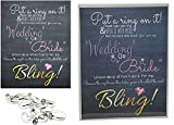 Put a Ring on it Bridal Shower Game Set, Toy Rings for Bridal Shower, Engagement Ring Game, Plastic Diamond Rings for Bridal Shower, Put a Ring on it Bridal Shower Game Sign, Bridal Shower Ring Game