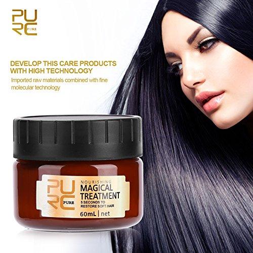 60ml Masque capillaire magique Traitement nourrissant Spécialiste de la réparation douce et lisse