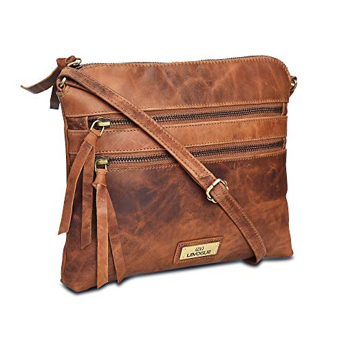 100% Genuine Leather Made in India ✔100% Authentic: A handcrafted Tan Leather women's cross body sling bag of stunning quality, meticulously stitched together into a gorgeous, timeless, and durable masterpiece that will stand up to daily wear and tea...