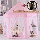 MYMM Tente de Jeu, château de Princesse pour Enfants, tentes de Coin pour Enfants pour Une Utilisation intérieure et extérieure, Cadeau d'anniversaire pour bébé, Maison de Jeu, Jeu de Puzzle (Rose)