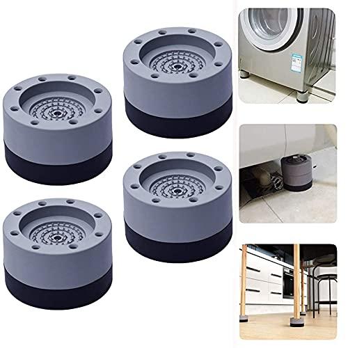 Almohadillas de soporte para lavadora 4pcs, AOUTOR Almohadillas de pies antivibración para lavadora, Almohadillas para lavadora y secadora, Almohadillas universales para patas de muebles, gris