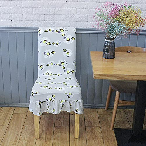 Universal stretch stolöverdrag grå fjäril älska blomma kjol avtagbart stolskydd modernt skydd skydd säte stol matsal skydd för hotell bankett bröllop bukett 6/set