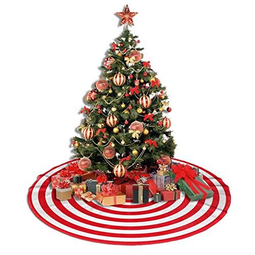 ADOUGEDU círculo rojo y blanco – Falda de árbol de Navidad de 36 pulgadas para suministros de Navidad de Navidad, falda de árbol de Navidad, decoración para decoración de...