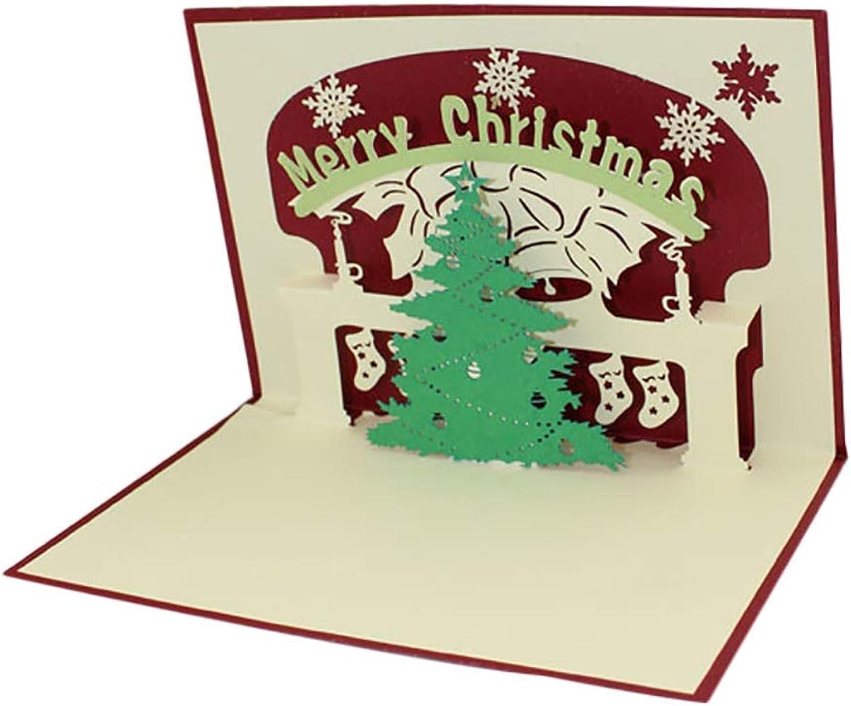 Grüner Weihnachtsbaum 3D Papier Glückwunschkarte Dreidimensionale Gefaltet Neujahr Grußkarten Dekoration Postkarte 1 STÜCKE Durable Ogquaton B07Q7NZJ68 | Haltbarer Service
