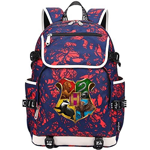 QLma Mochila para portátil de viaje, mochila para colegio universitario para niño y niña con puerto de carga USB, mochila informal para computadora, 45x37x16cm (style9)