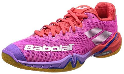 Babolat Shadow Tour 2019 Badmintonschuhe rot/rosa/violett 31S1802-299, Schuhgröße:37 EU