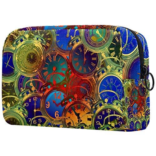 Time Make-up-Tasche, Kulturbeutel für Damen, Hautpflege, Kosmetik, praktische Tasche mit Reißverschluss