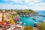 WOMNSDN Puzle del Mar Egeo de 1000 piezas para adultos, impossible rompecabezas, colorido, juego de habilidad para toda la familia