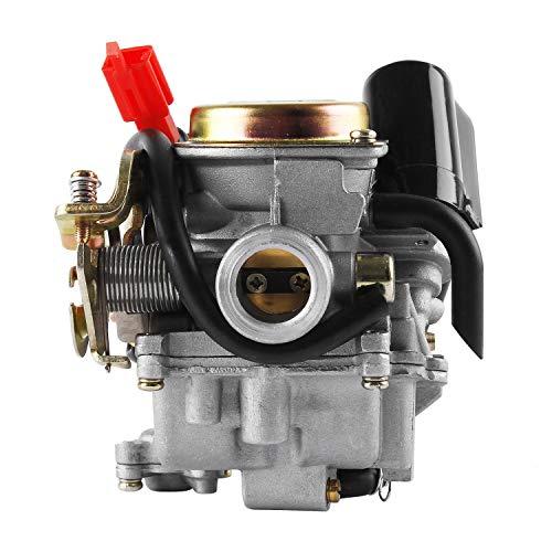 Wilktop Vergaser, 50cc Vergaser 18mm Roller Moped Ersatzvergaser Passend für GY6 Carburetor/ PD18J GY6 50cc