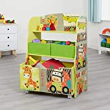Liberty House Toys TF4802 Kid Safari Book Shelf, Multi-Coloured, H96.5 x W48.5 x D24cm