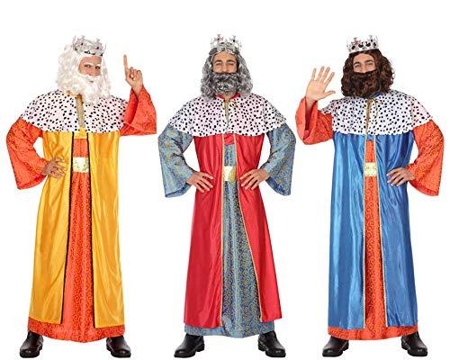 Atosa-32135 Atosa-32135-Disfraz Rey Mago hombre adulto-talla color SURTIDO-Navidad, multicolor, M-L (32135)