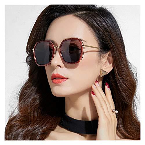 SSN Gafas De Sol para Mujeres Gafas De Sol Polarizadas GM Versión Coreana De La Cara Redonda De La Marea Protección UV La Cara Grande Era Delgada (Color : C)