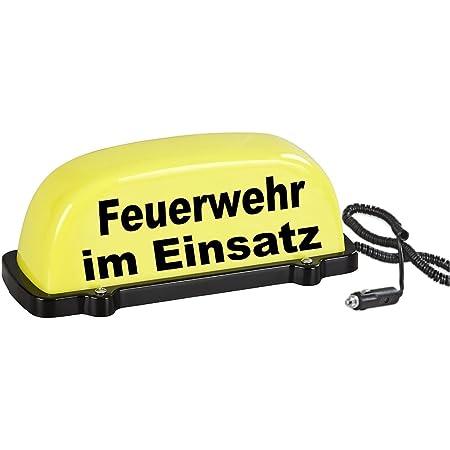Paco Deutschland E K Dachschild City Gelb Feuerwehr Im Einsatz Led Blinklicht Und Dauerlicht Dachaufsetzer Auto