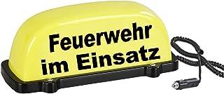 PACO Deutschland e.K. Dachschild City   gelb   Feuerwehr im Einsatz   LED Blinklicht und Dauerlicht   Dachaufsetzer