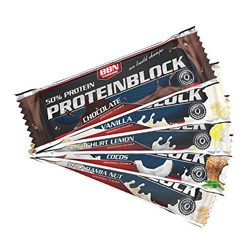 BBN Hardcore Protein Block Riegel, Mix Box, 15 Stück
