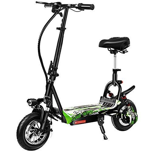 DREAMyun Patinete eléctrico, 500 W, 35 km/h, 10-80 km, Scooter eléctrico Plegable...