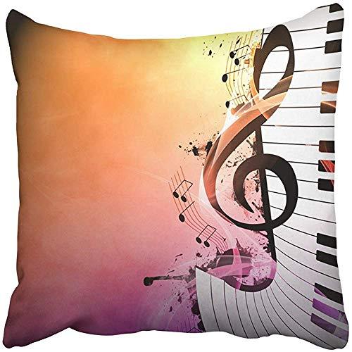 Pillow Audio Rect muziek-beschermhoes met versleten ruimte, Band Bass Blues Club Classico Danza Desig decoratief duurzaam polyester ospedalen 45 x 45 cm Q