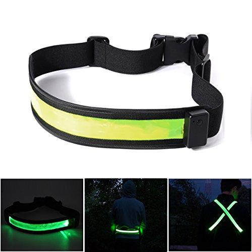 Xcellent Global USB aufladbarer LED reflektierender Sicherheits-Gürtel Voll einstellbares Laufen, Radfahren, Wandern Ausrüstung M-FS017