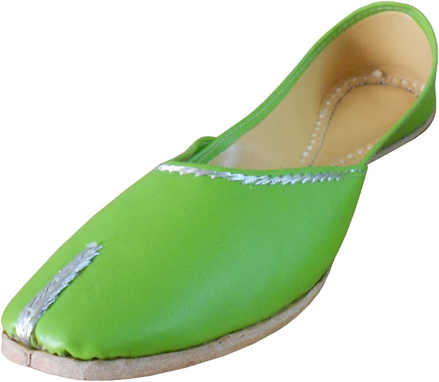 Kalra Creations Women's Traditional Indian Mojari Faux Leather Ethnic Flats