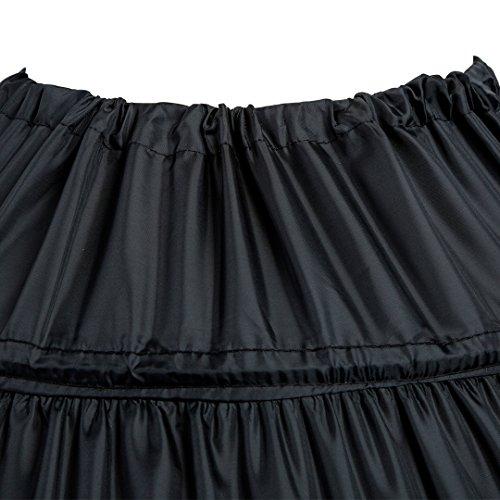 Mojonnie 6-Hoops Hoop Skirt Crinoline Petticoat for Wedding Dress Crinoline U...