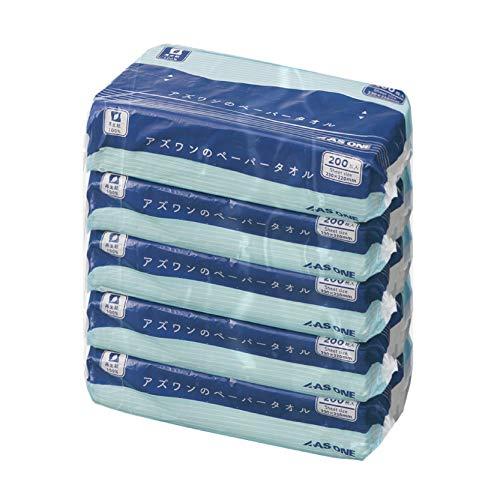 アズワンのペーパータオル 5パック (200枚×5袋入)