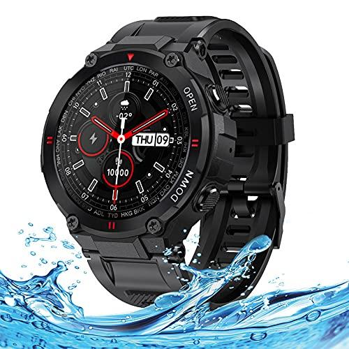 LEMONDA - Smartwatch intelligente da 1,28', Full Circle Touch, con 8 modalità sportive, monitor di frequenza cardiaca e pressione sanguigna, per orologio sportivo
