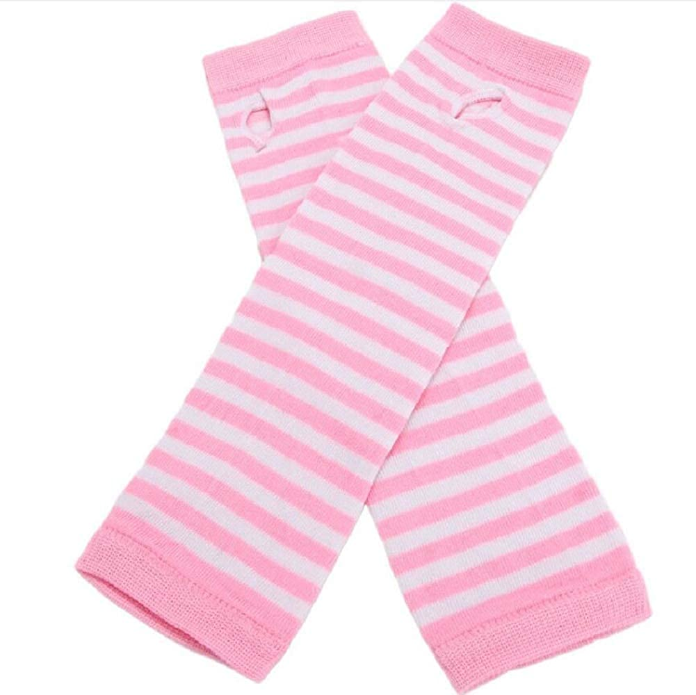 Arm Warmer Women Lady Striped Elbow Gloves Warmer Long Arm Warmer Thumbhole Stretchy Gloves Elbow Mittens Punk Gothic Rock Accessories at  Women's Clothing store