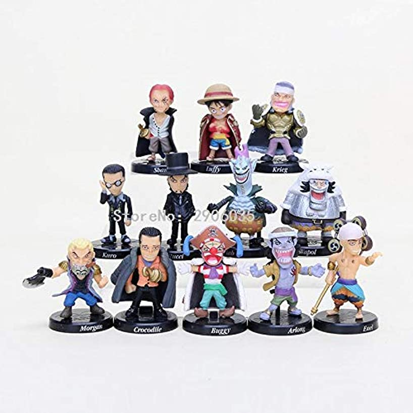 12pcs/Set 5cm (2 inch) - Anime One Piece Figure Set Devil Fruit Users Buggy Crocodile Shanks Straw Hat Luffy Action Figure PVC Model Doll