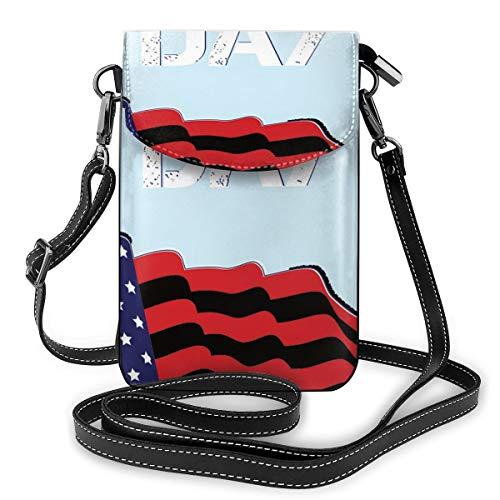 Generic American Day Kleine Umhängetasche, Handtasche für Damen, PU-Leder, Handtasche mit verstellbarem Riemen für den Alltag