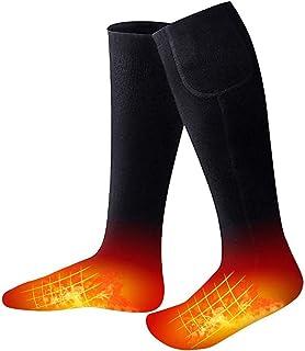 YTFR, YTFR Calcetines calefacción eléctrica, 3 configuraciones calefacción eléctricos Calientes Calentadores pie de Invierno con Pilas Recargables Los Calcetines promueven la circulación sanguínea Black