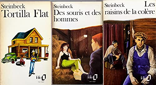 Steinbeck, LOT 3 livres: Tortilla Flat / Des souris et des hommes / Les raisins de la colère.