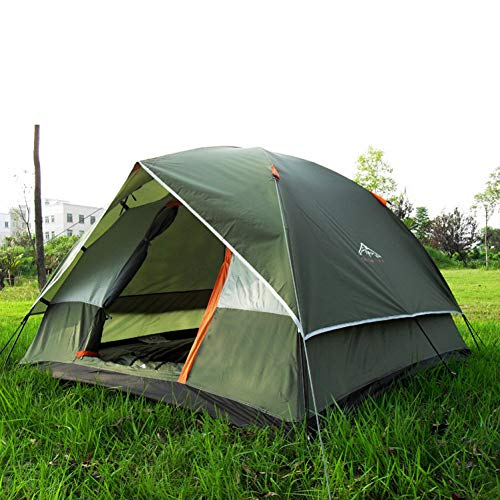 tent 3-4 Person Camping Tent Dual Layer Waterproof Pop Open Anti UV Tourist Tents Outdoor