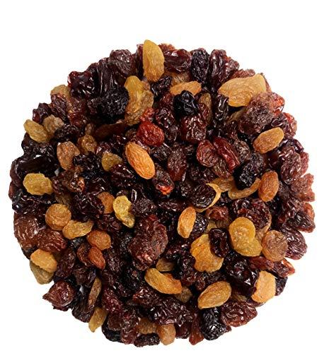 Fru'Cha! - BIO Rosinen-Mix-Tricolore / Sultanas, Weinbeeren und grüne Rosinen - 1000g Plastikfrei verpackt -100% kompostierbar