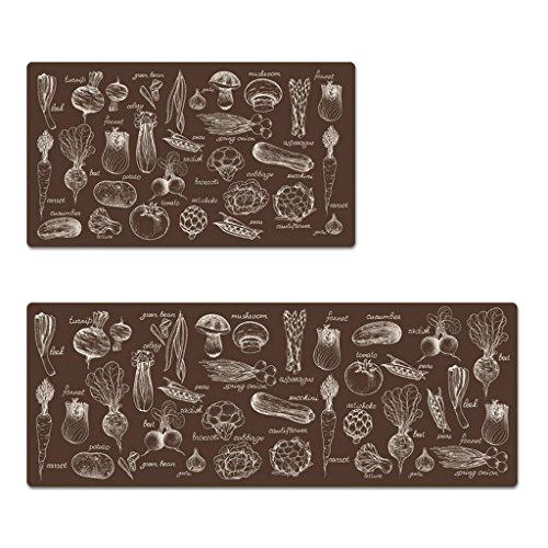 ENVI Amour Lot de tapis de la porte de porte de Hall de cuisine de salle de bain Ottomans Tapis antidérapant étanche aux Huiles ménagers de salle de bain Tapis Tapis de terre, PVC, a, 120*45cm