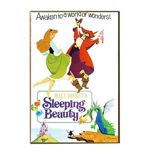 Silver Buffalo DQ0636 Disney Sleeping Beauty 'Awaken to a World of Wonders!' Movie Poster Wall Art, 13 x 19 inches