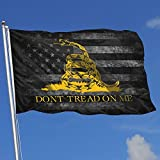 POYOMUK Not Tread On-Me Flag 3 x 5 Ft - American Flags Polyester with Grommets - Yellow Snake Banner 3X5 Foot Outdoor Decor