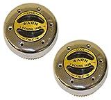 WARN 62672 Premium Manual Locking Hub with Zinc Aluminum Alloy Dial, Dual Seals and 35 Splines, Chrome, 1 Pair