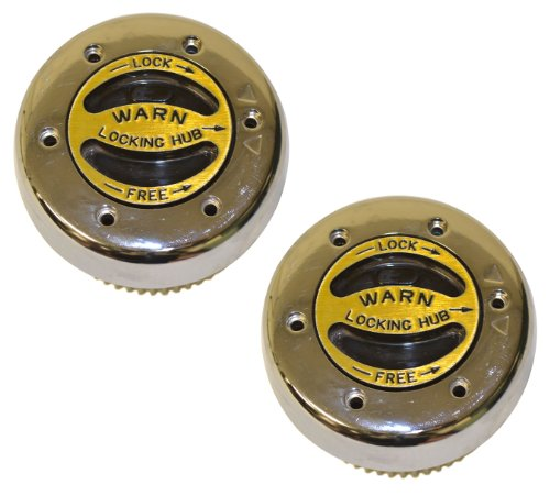 WARN 62672 Premium Manual Locking Hub with Zinc Aluminum Alloy Dial, Dual Seals and 35 Splines, Chrome, 1 Pair