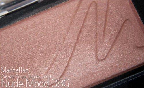 Manhattan Powder Rouge Tender Touch Nr. 38G nude mood Farbe: Rostbraun Inhalt: 3,5g Zartes Puder Blush für einen natürlich strahlend, frischen Teint mit Vitamin E. Rouge Blush