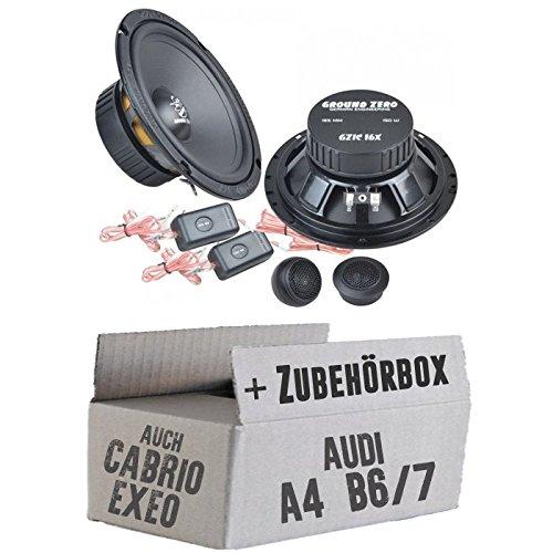 mächtig Ground Zero GZIC 16X – 16 cm Lautsprechersystem – Audi A4 B6 / 7 Sitz Exeo Installationskit – Einfach…