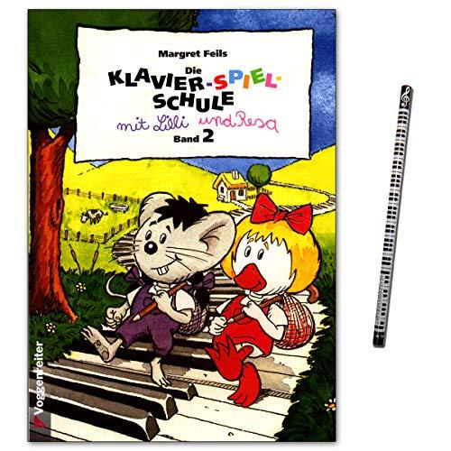 Klavier-Spiel-Schule mit Lilli und Resa Band 2 - Didaktische Klavierschule mit Piano-Bleistift - Voggenreiter 9783802402197