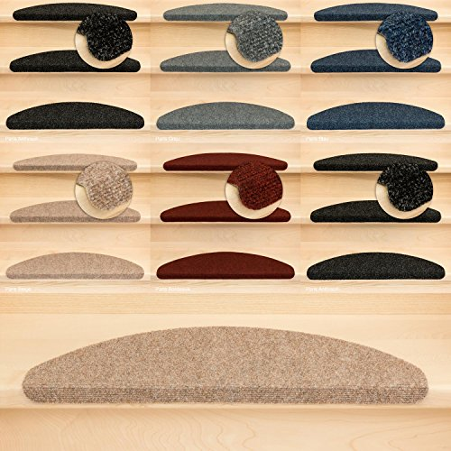 Kettelservice-Metzker Stufenmatten Treppenmatten Ramon Halbrund - 5 aktuelle Farben - 15 STK. Beige