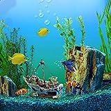 UEETEK Fish Tank Zubehör Schiff Aquarium Ornament Dekoration für kleine Fische Garnelen Cichild Schildkröte - 2