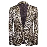 Men's Fashion Slim Fit Casual Print One Button...